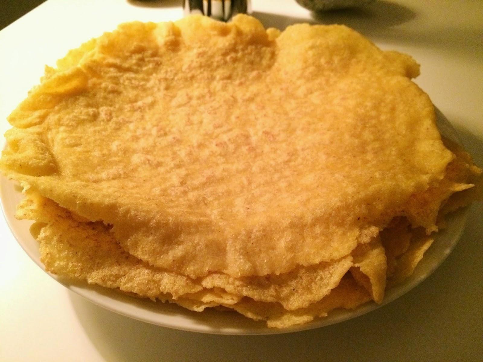 Pannkakor gjorda på majsmjöl