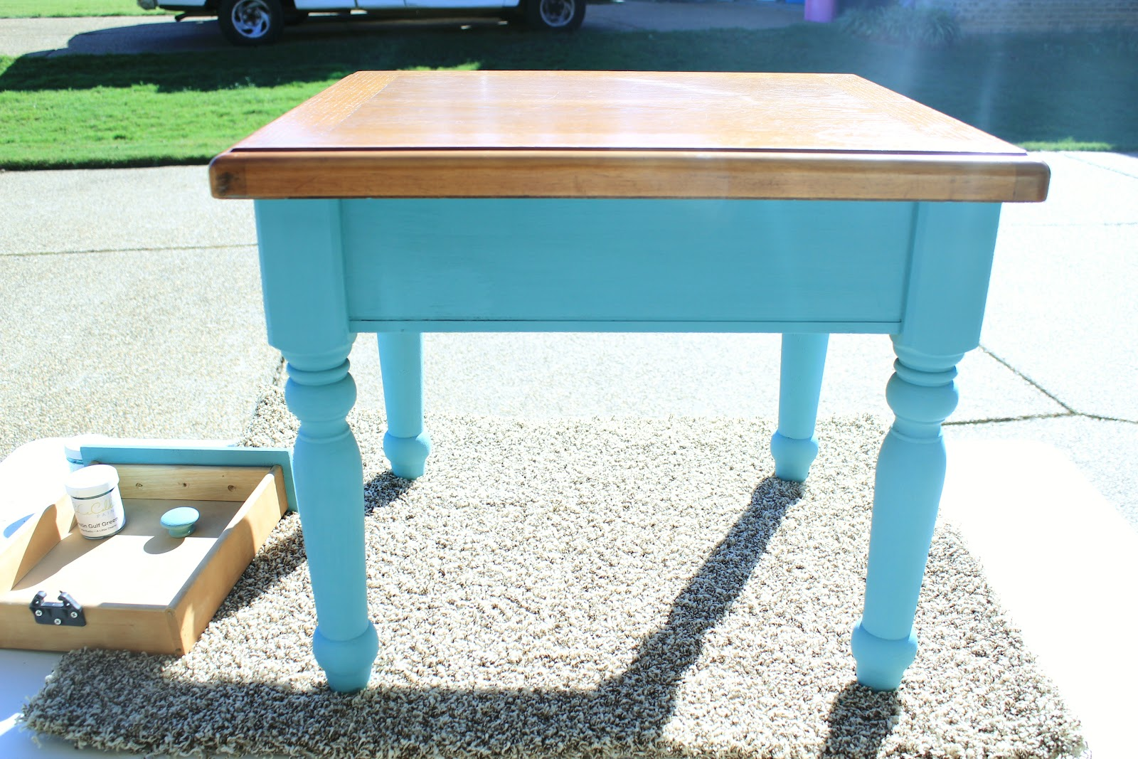 Ce Ce Caldwells, Chalk Paint, Destin Gulf Green, How To,end Table