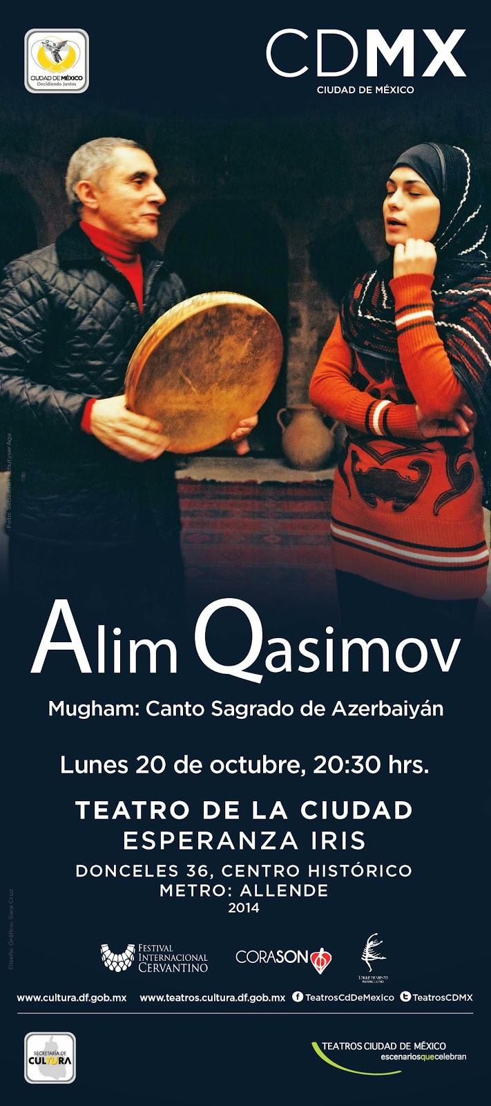 Cantos sagrados de Azerbaiyán de Alim Qasimov en el Teatro de la Ciudad