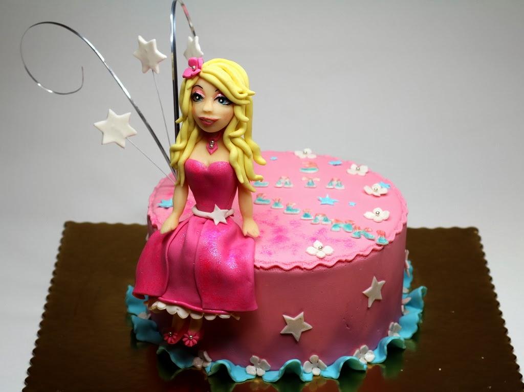 London Patisserie Barbie Girl Birthday Cake