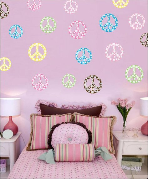 Peace Sign Decorations For Bedrooms
