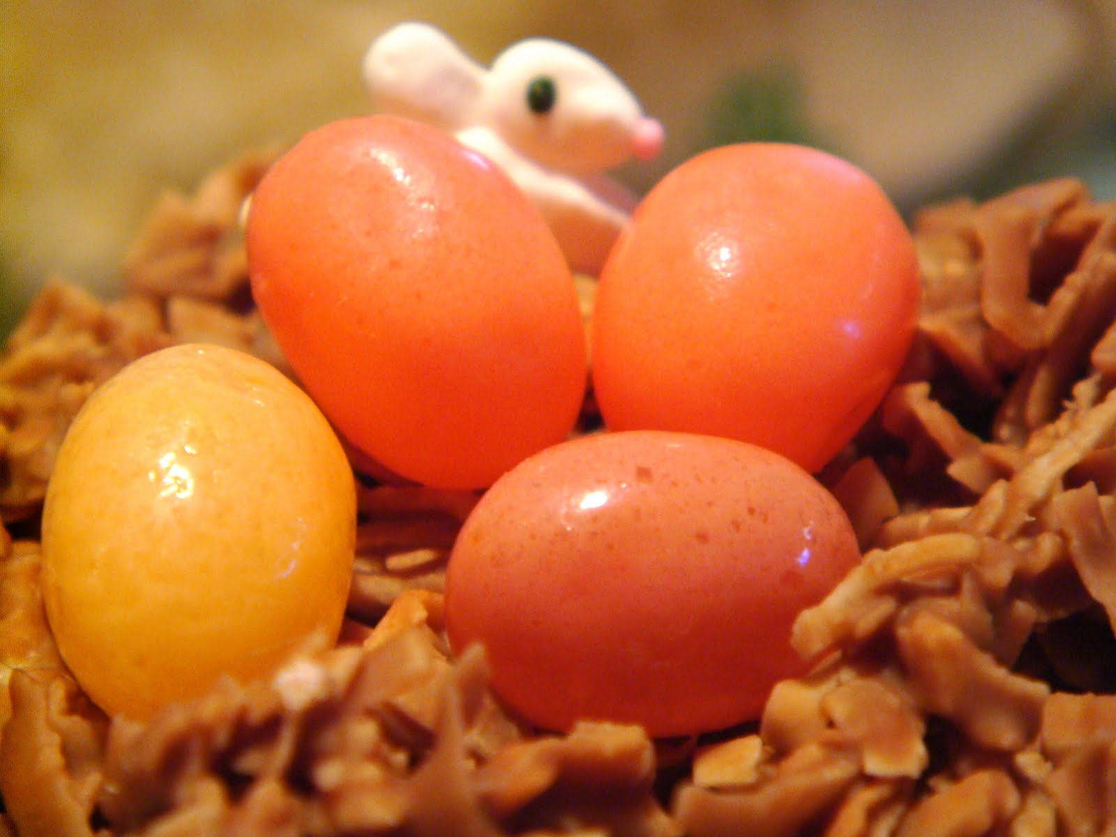 Delicious Dishings: Chocolate-Coconut Nests With Jelly Bean Eggs