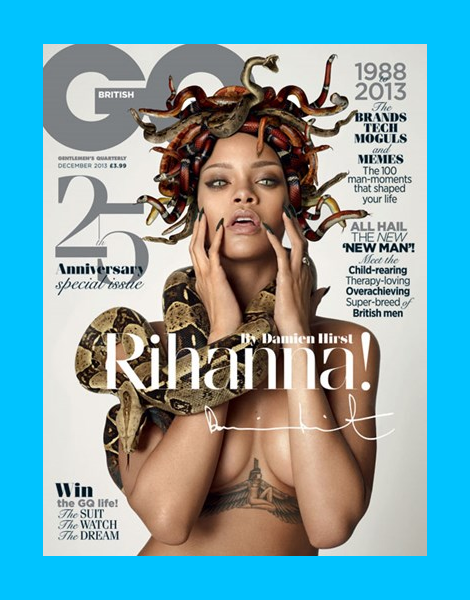 Rihanna by Damien Hirst for British GQ