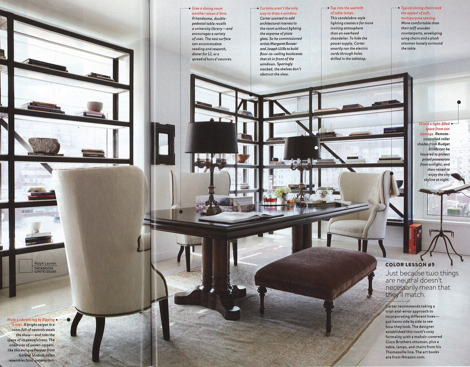 Luxury Design by Darryl Carter as featured in O at Home