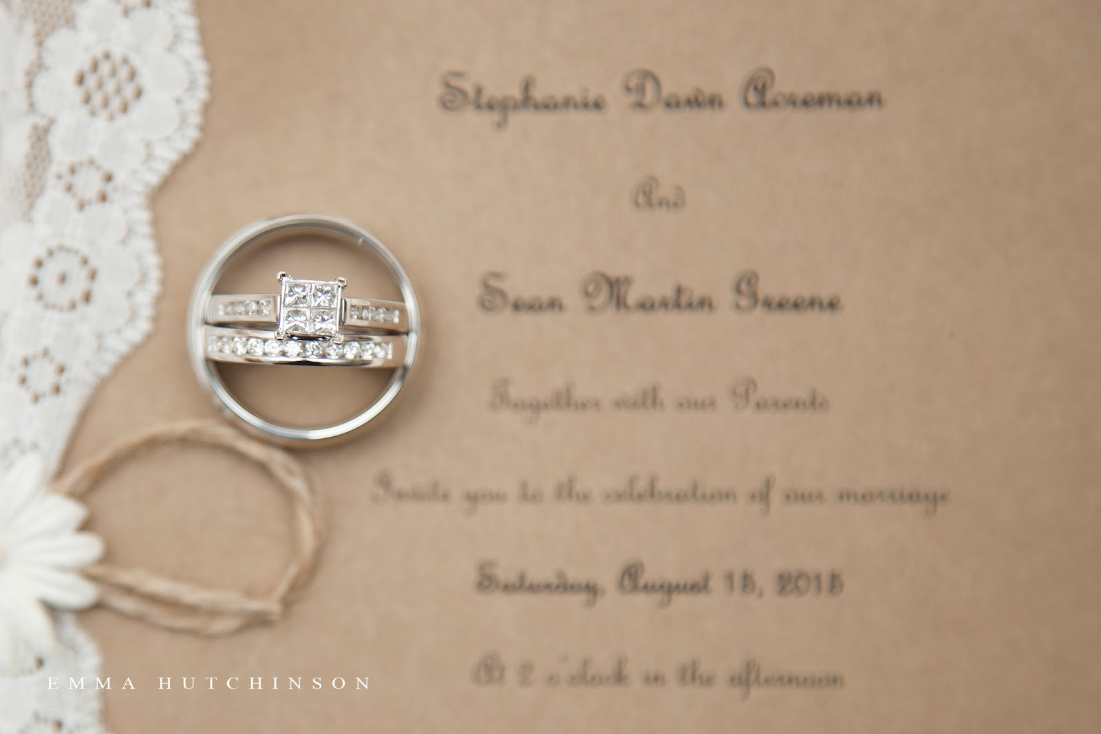Weddings in Tilting, Fogo Island - photograph of wedding rings