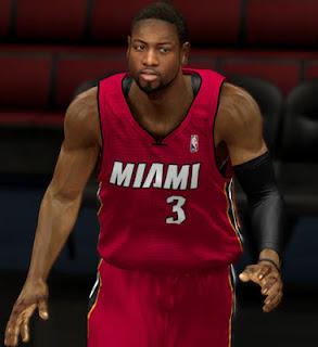 NBA 2K13 Dwyane Wade CyberFace Mod Patch