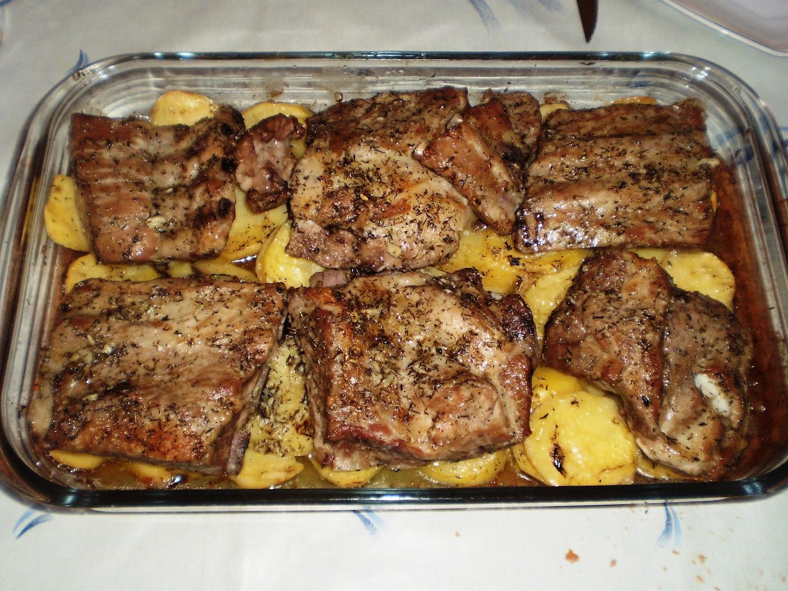 Cocina sin tonterias costillas de cerdo al horno con patatas panadera - Cocina al horno ...