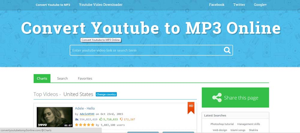 any video link to mp3