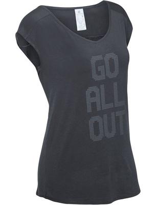 camiseta negra shape fitness mujer domyos Decathlon