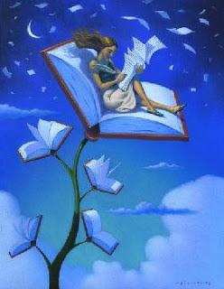 imagen de libro con paginas volando