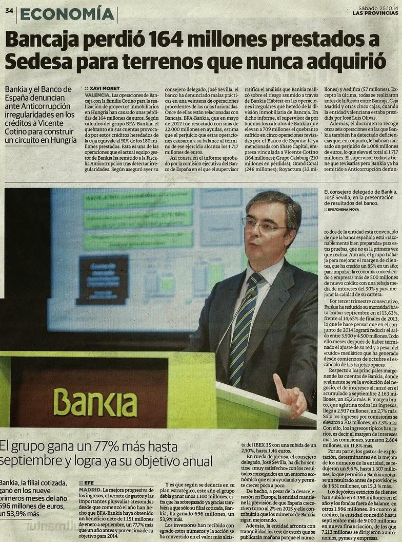 Operaciones bajo sospecha sedesa 164 millones puyol 2 for Inmobiliaria bancaja