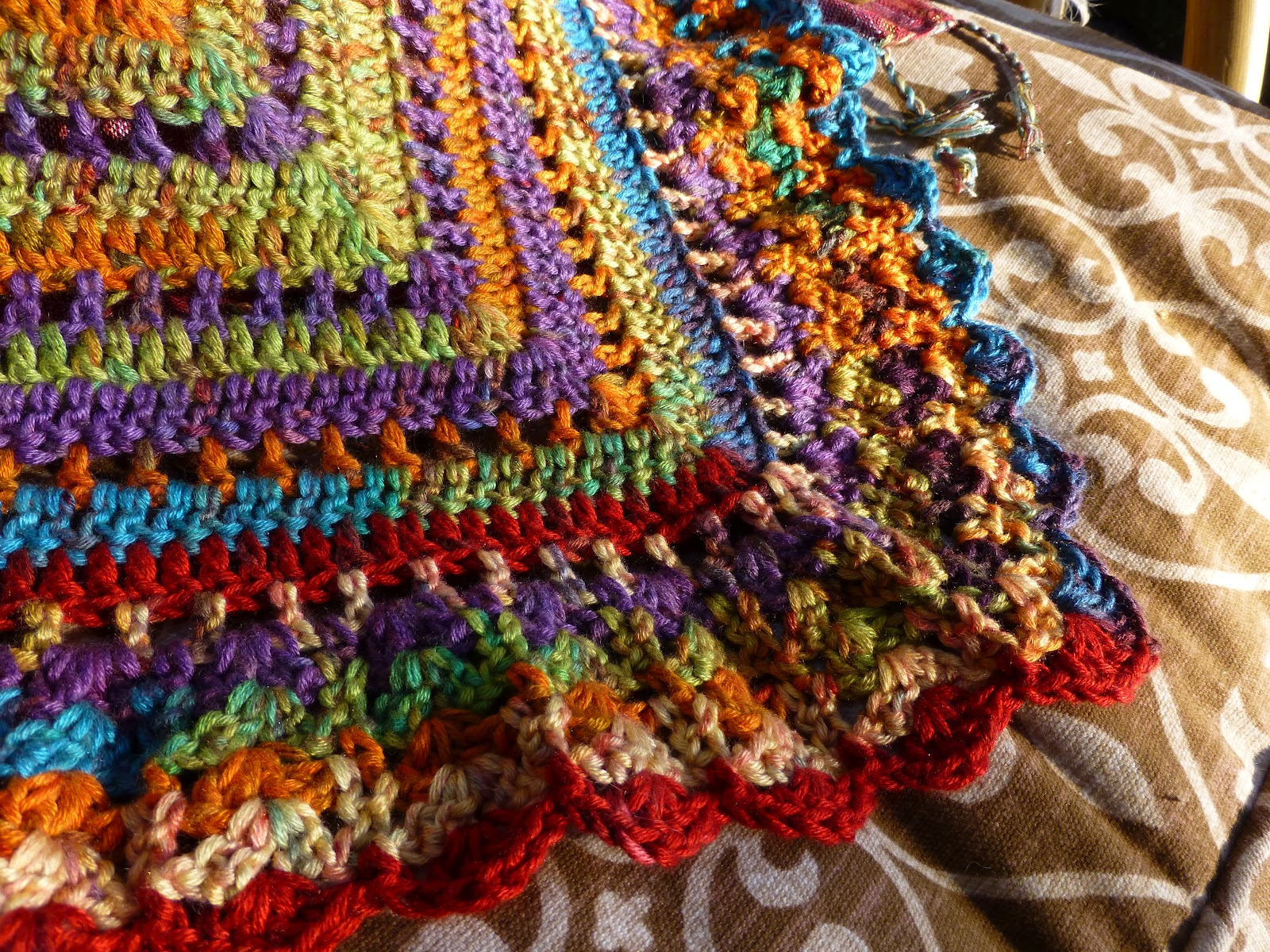 yarn art color garden : And My Friend Marita Brought Me This Wonderful Scarf From Cairo It S Hand Loomed Of Egyptian Cotton And The Fiber Is Just Luminous
