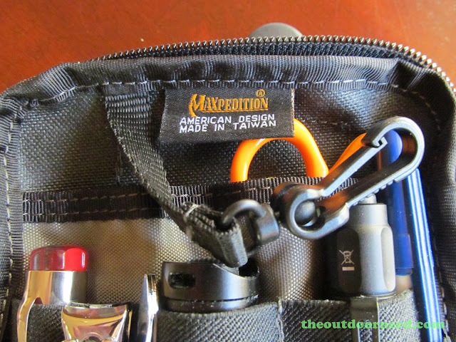 Maxpedition EDC Pocket Organizer - Showing Keychain Clip