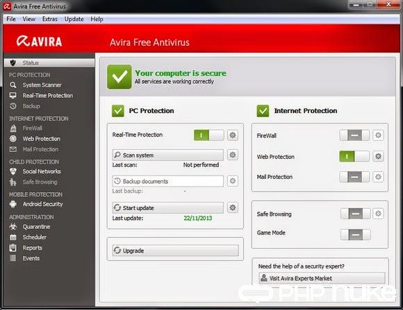 Avira Antivirus 2014 v14.0.4.672 Free Edition