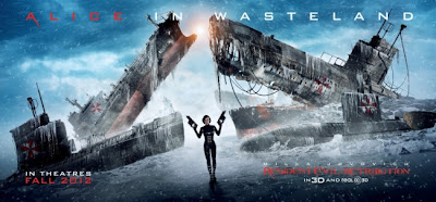 Resident Evil Retribution paster