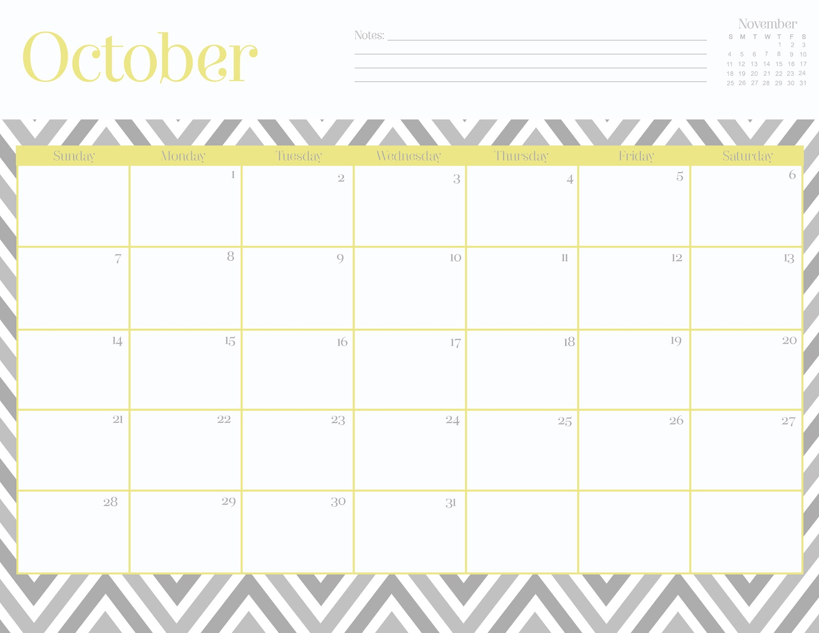 Oh So Lovely: Free October 2012 Printable Calendars!