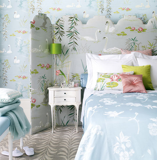 The enchanted home - Blue bedroom wallpaper ideas ...