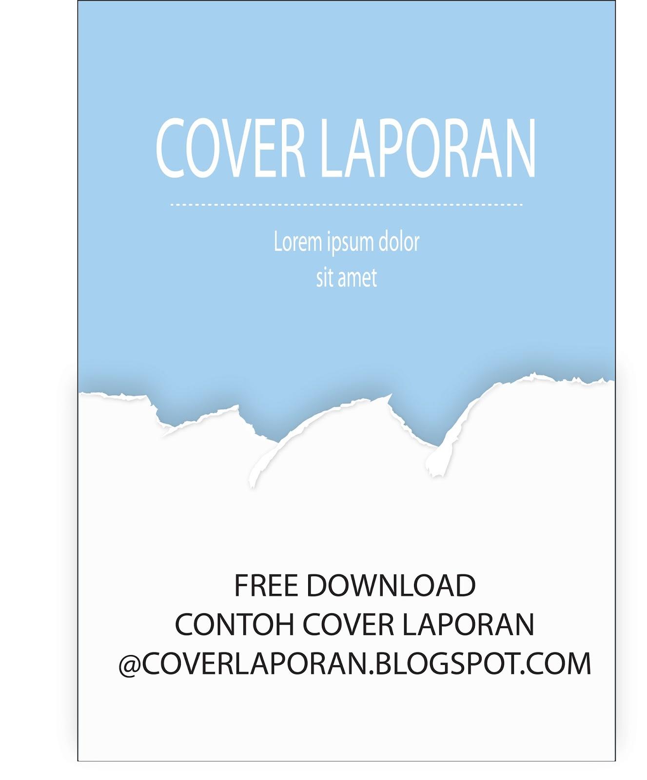 Download Cover Laporan Biru Putih Download Contoh Cover Laporan