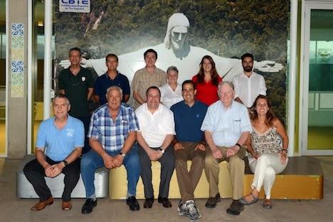 Delegação conjunta da ISSF e do IPC em visita ao Centro Nacional de Tiro Esportivo - Foto: CBTE/Divulgação