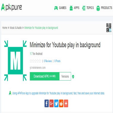 apkpure com - minimize - for - youtube