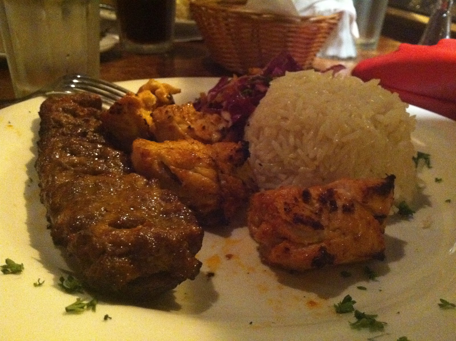 Lamb and chicken platter from alaturka turkish cuisine for Alaturka turkish cuisine