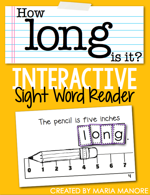 "emergent reader for sight word ""LONG"""