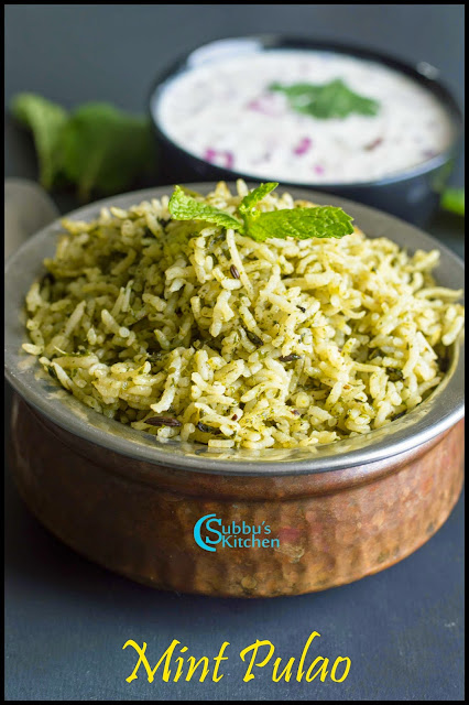 Mint Coriander Leaves Pulao Recipe | No Onion No Garlic Mint Pulao Recipe