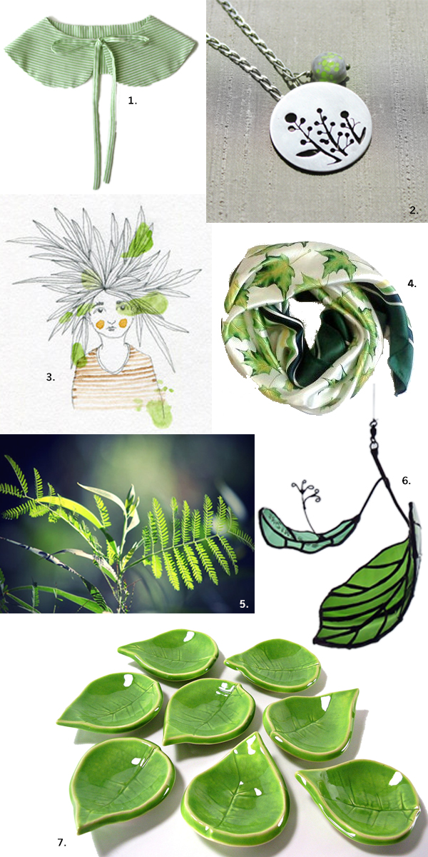 Today we love... Green Leaves by Joana Pedroso of Trincar Uvas