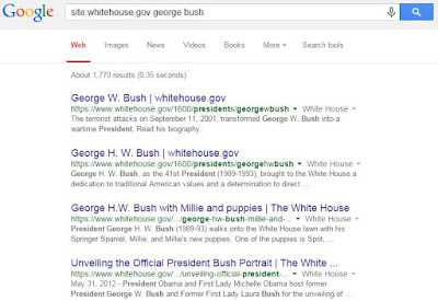 Google Site Search Whitehouse.gov George Bush