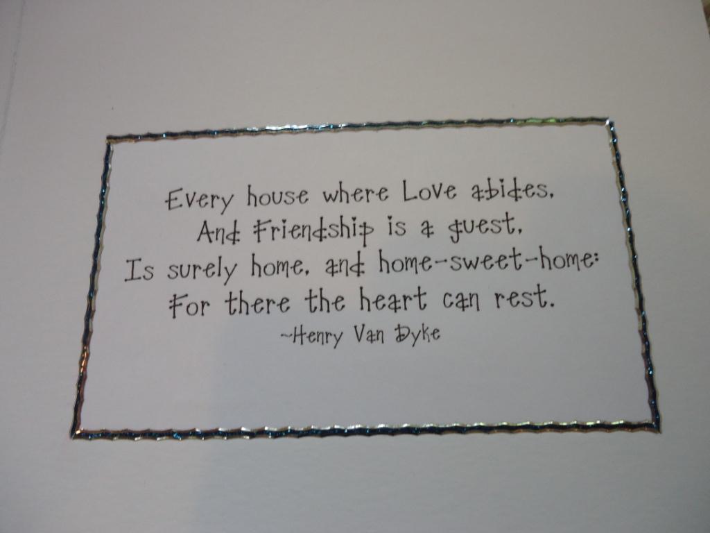Dinki Dots Craft New Home Card