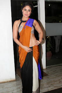 Bollywood Actress Kareena Kapoor Designer Saree Photos
