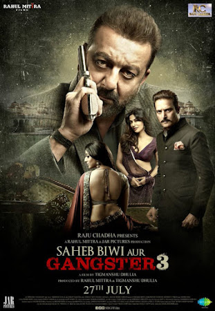 Poster Of Bollywood Movie Saheb Biwi Aur Gangster 3 2018 300MB Pdvd Full Hindi Movie