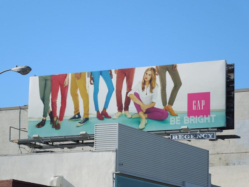 Be Bright Gap billboard