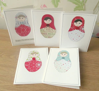 Russian doll Christmas cards