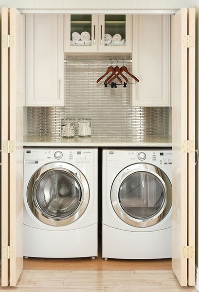 Countertop Above Washer And Dryer : put the stone countertop directly on the washer and dryer