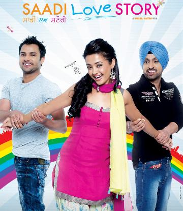 Poster Of Saadi Love Story (2013) Full Punjabi Movie Free Download Watch Online At hindi4u.info