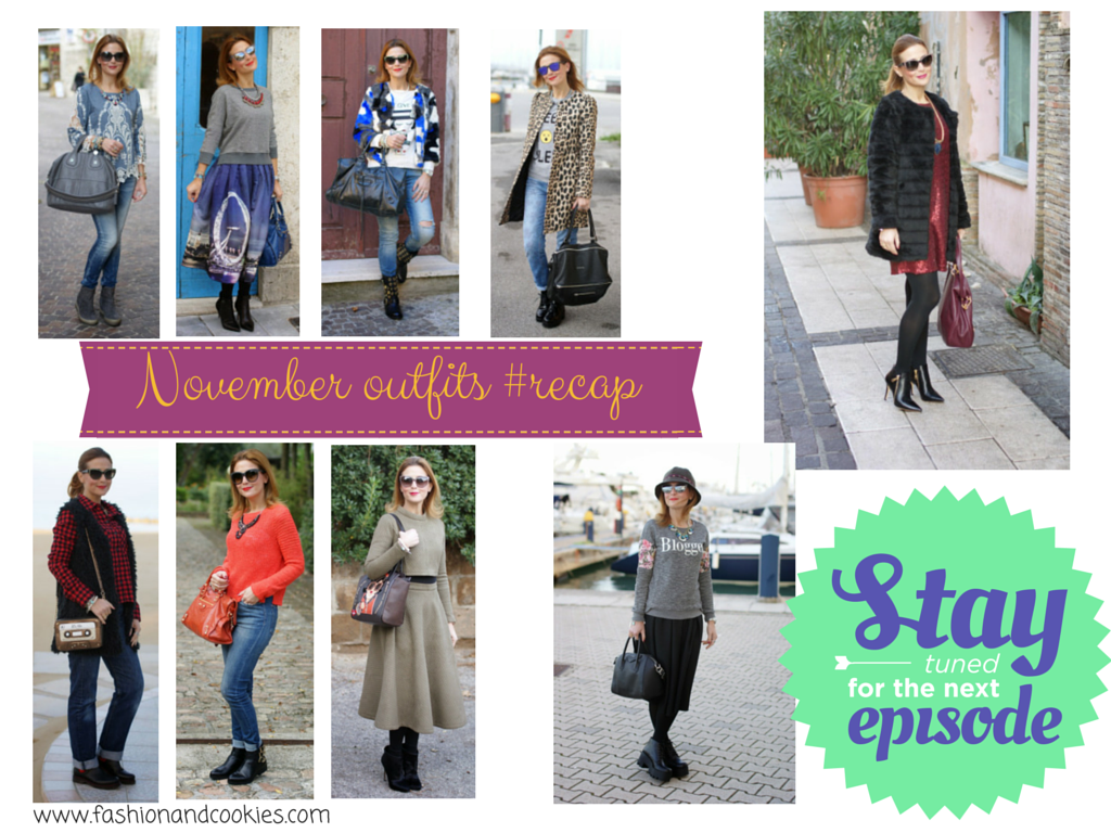 Welcome december, december be good to me, November 2014 outfits recap, Fashion and Cookies, fashion blogger
