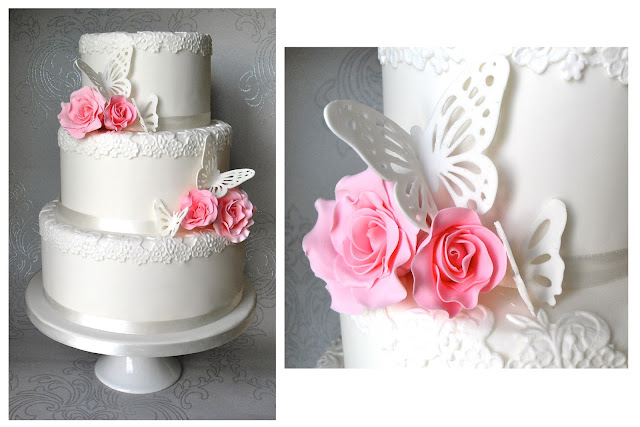sugar butterflies for wedding cakes