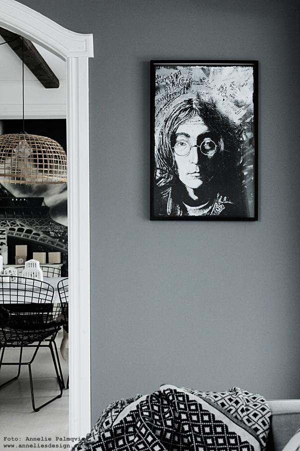 vardagsrum, vardagsrummet, grått, grå, gråa, vägg, väggar, lennon, poster, posters, konsttryck, tavla, tavlor, webbutik, webbutiker, webshop, nätbutik, nätbutiker, annelies design, interior, inredning,