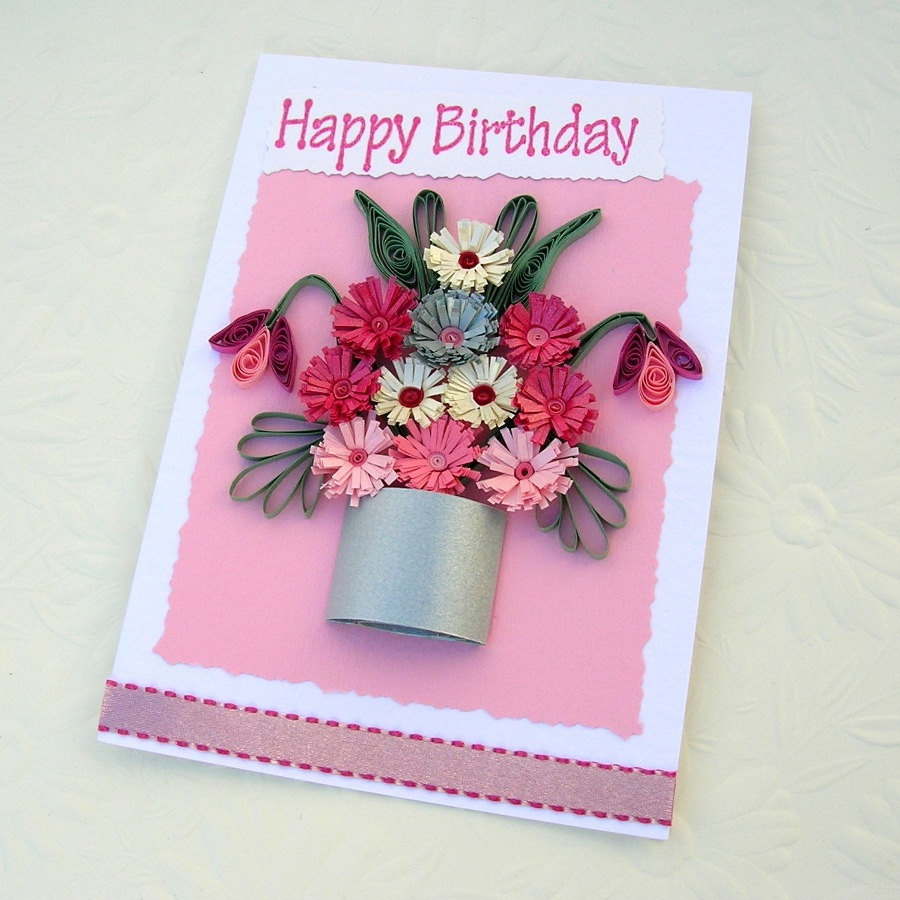 Handmade quilled birthday cards ideas origami instructions art and handmade quilled birthday cards ideas bookmarktalkfo Images