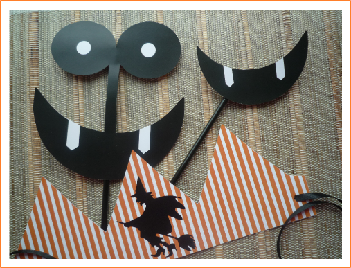 Free halloween printable masks from BistrotChic