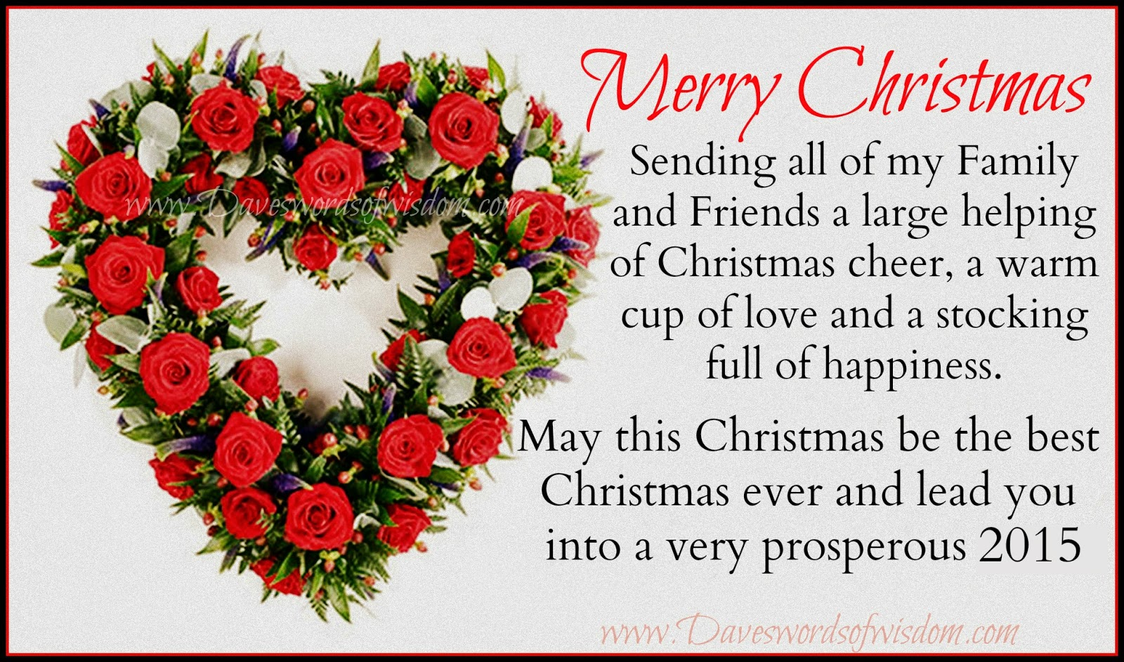 Wishing family and friends a merry for Merry christmas wishes for friends