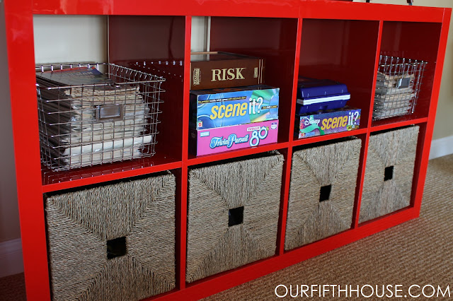 red ikea expedit storage