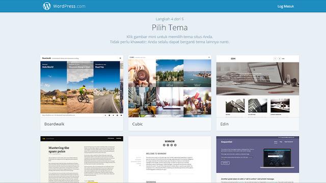 Cara membuat Blog di Wordpress.com