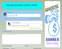 Komentar Blogger Default berisi Reply Plus Iklan