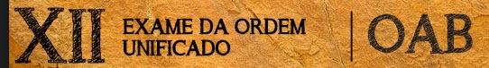 XII EXAME DE ORDEM OAB