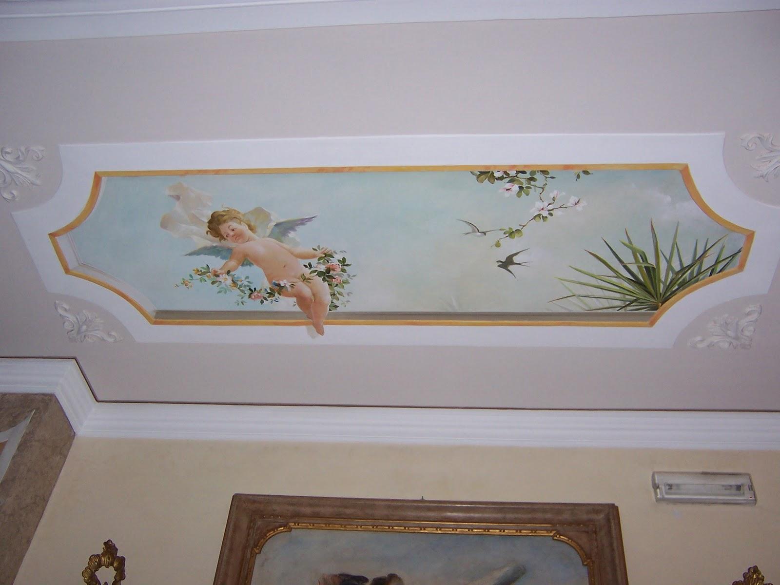 Blue decor decorazioni a soffitto trompe l 39 oeil - Decoration trompe l oeil ...