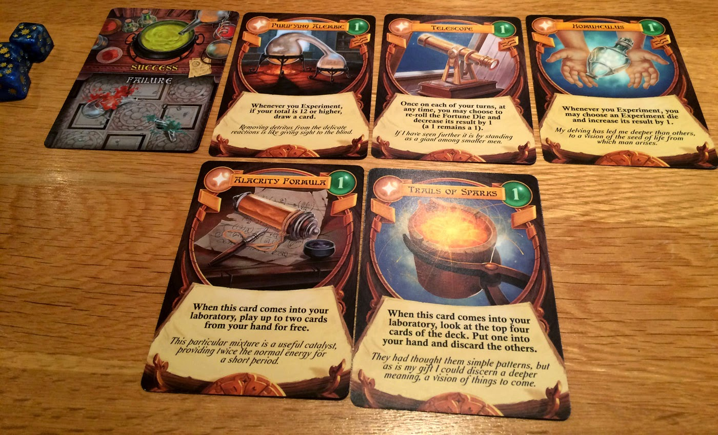 Chaos & Alchemy review laboratory cards