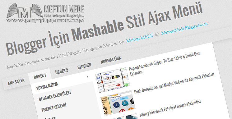 Blogger Mashable stil Ajax Menü