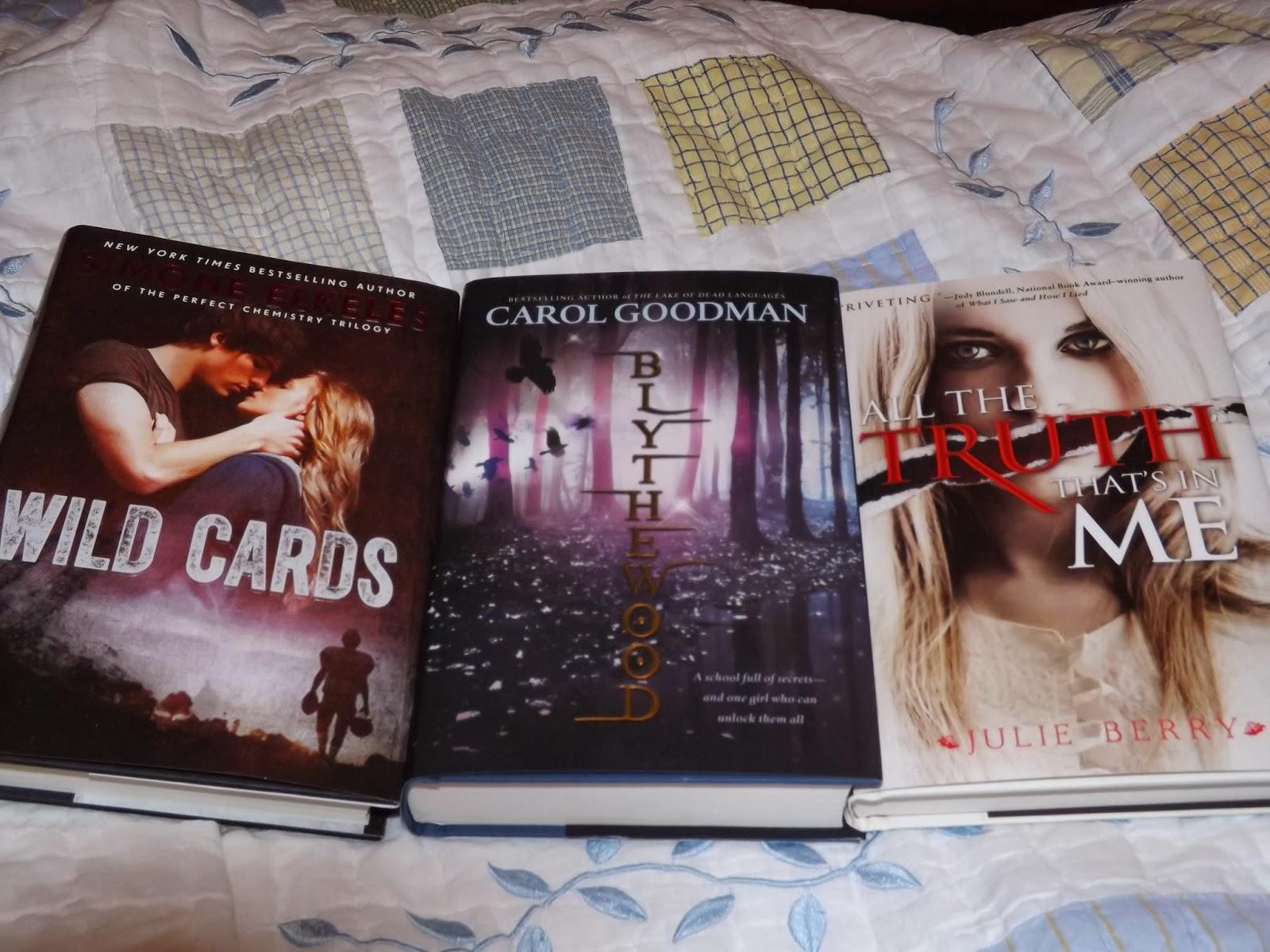 *wild Cards By Simone Elkeles Blythewood By Carol Goodman